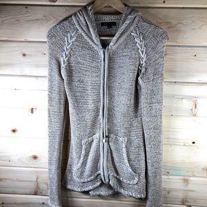 BCBG MaxAzria Hooded Zip Sweater